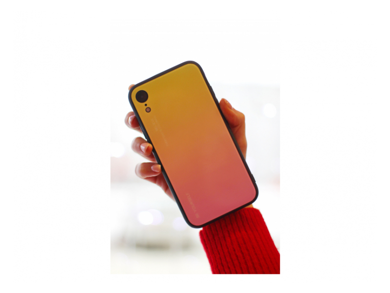 Клип-кейс Samsung Galaxy A50 (SM-A505) Glass Желтый