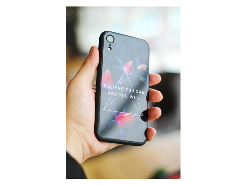 Клип-кейс iPhone X /iPhone XS Glass Сustom