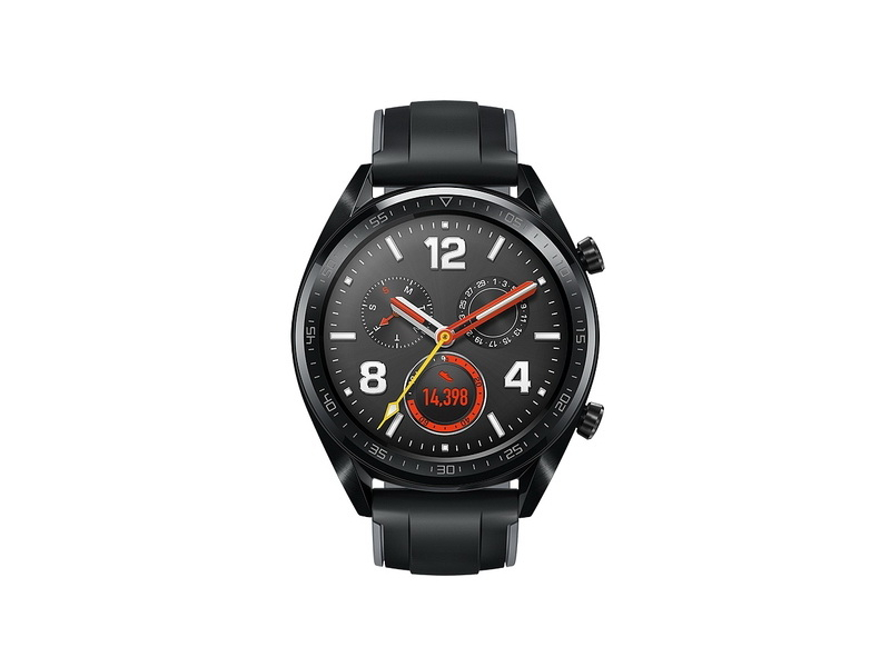 Смарт-часы Huawei Watch GT Black Silicone Strap (Черный)