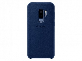 Клип-кейс для Samsung Galaxy S9 Plus (SM-G965) Alcantara Cover Синий
